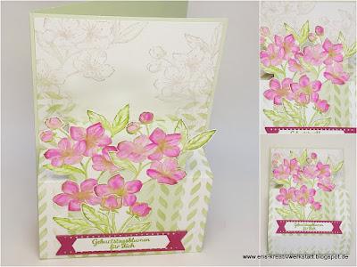 """Ewige Blüten"" Geburtstagskarte zum Aufstellen Stampin' Up! www.eris-kreativwerkstatt.blogspot.de"