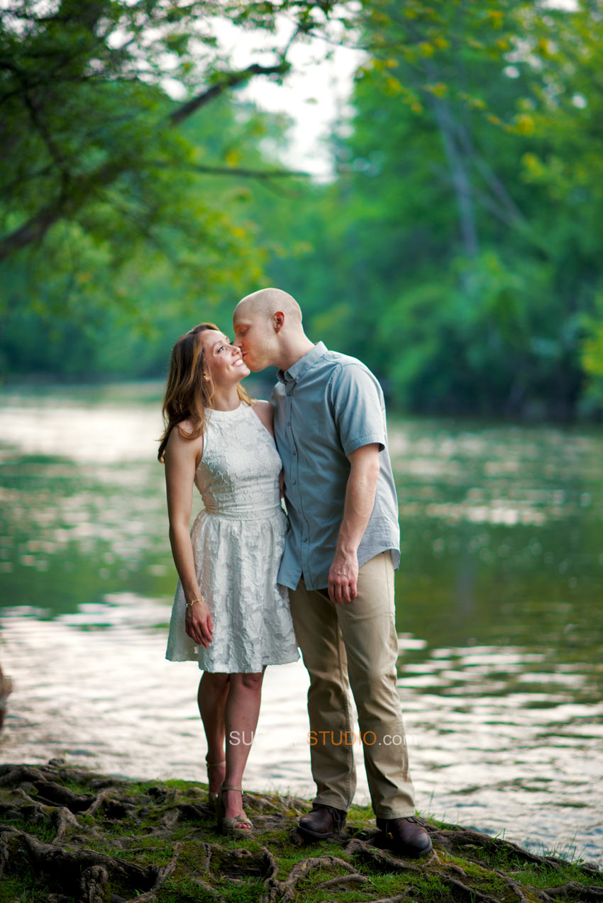 Nature Park River Engagement poses - Sudeep Studio.com