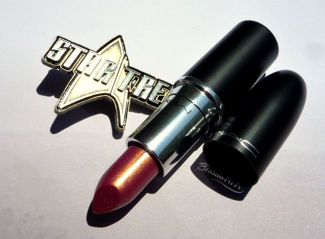 MAC Star Trek: Where No Man Has Gone Before lustre lipstick swatch