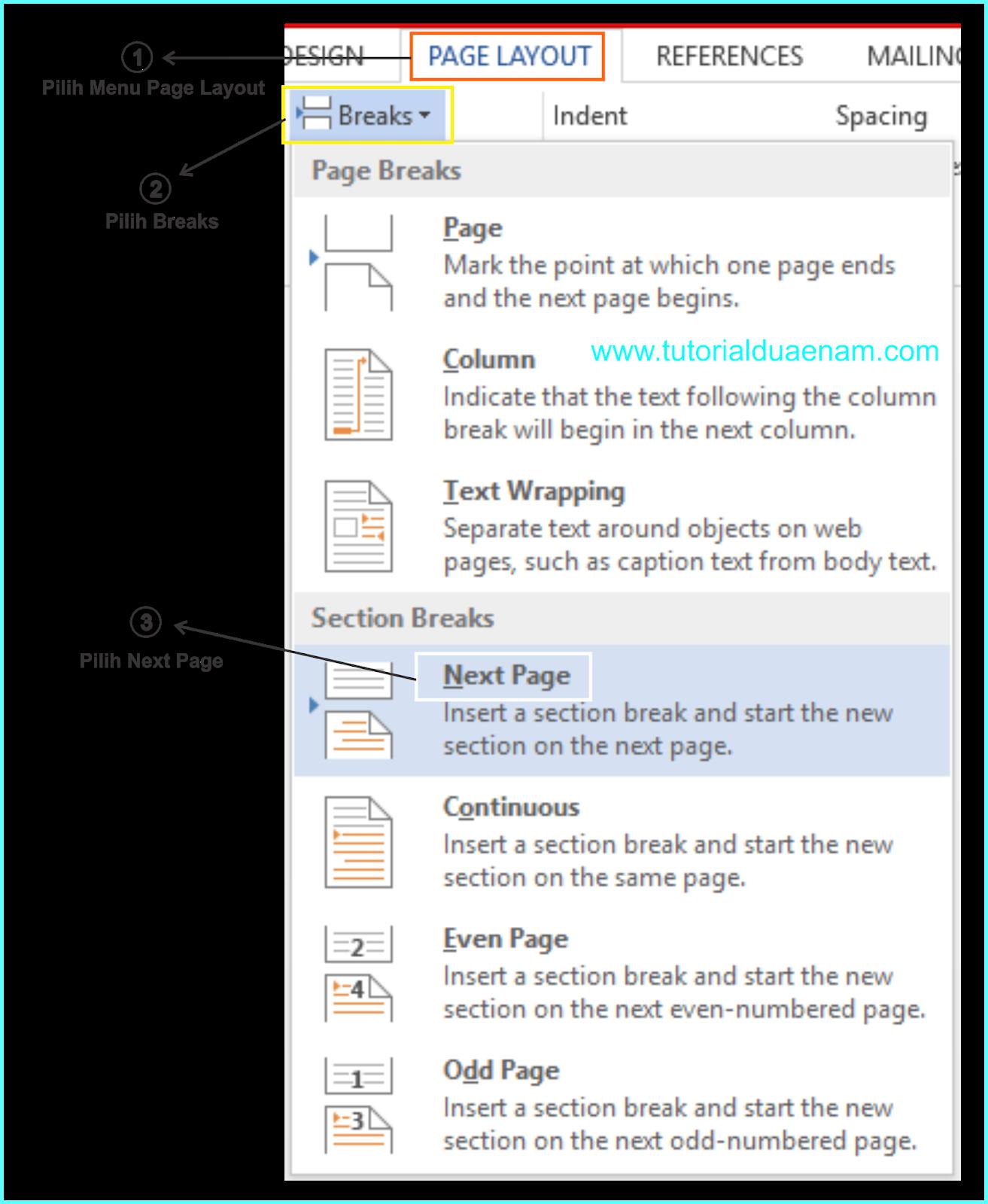Cara Membuat Halaman Potrait dan Landscape dalam Satu File ...