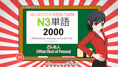 N3 Vocabulary どんな人 ( What kind of person)