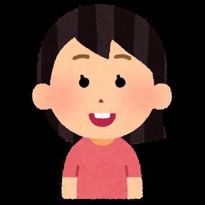 出っ歯の人のイラスト(女性)