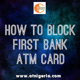 Block first bank ATM card