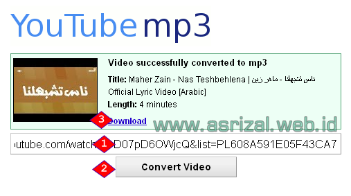 Cara Download Video YouTube dengan Format Mp3