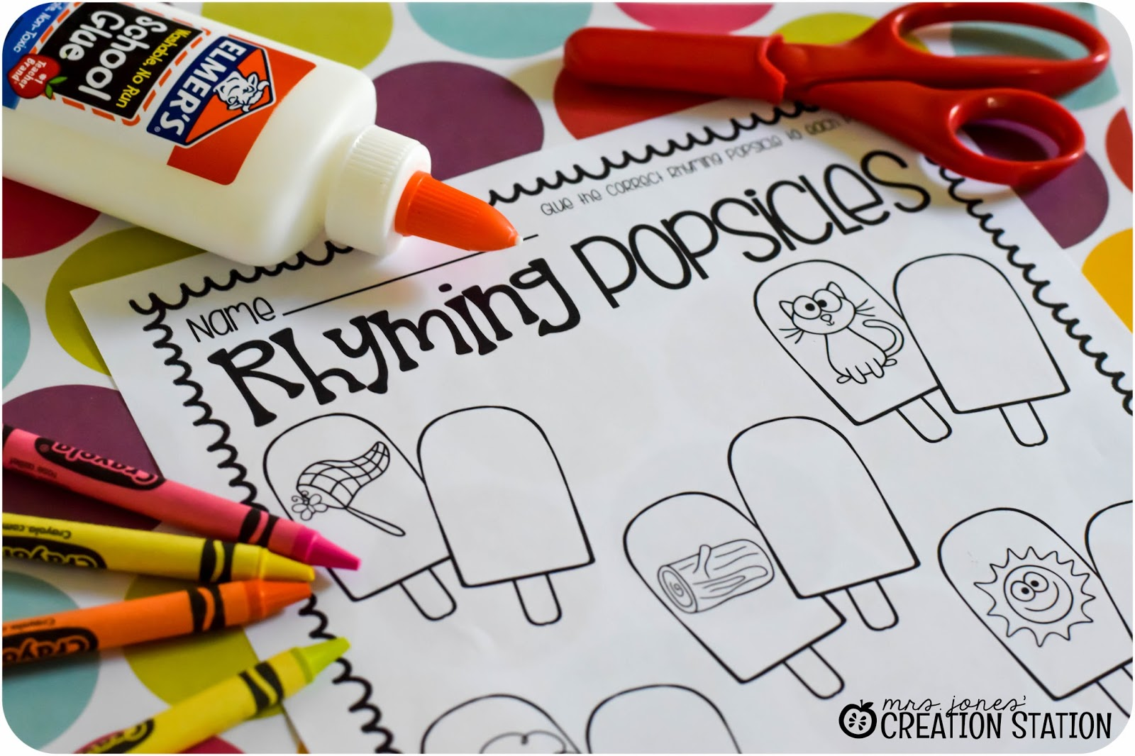 Mrs Jones Creation Station Rhyming Popsicles Summer