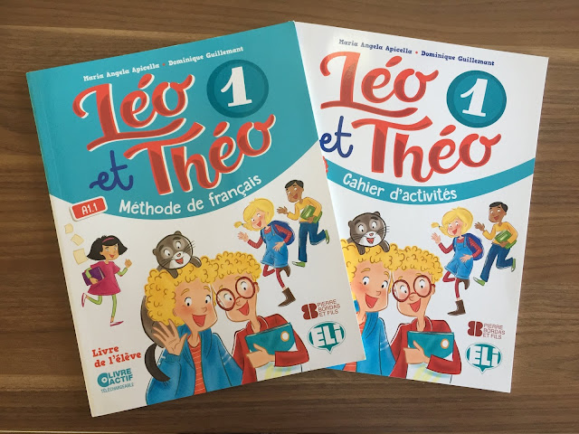"""Recenzje #138 - """"Léo et Théo 1"""" - okładki podręcznika oraz zeszytu ćwiczeń - Francuski przy kawie"""