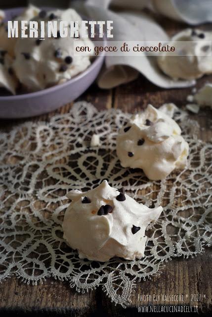 leopoldina e le sue meringhette con gocce di cioccolato
