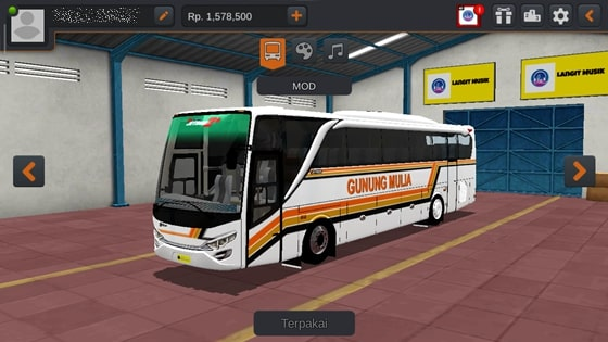 Livery JBHD2 New Setra MD Creation Gunung Mulia