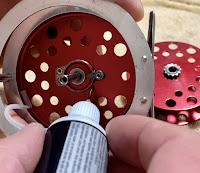 Vintage Reel Restoration, vintage fly reel cleaning, J. C. Higgins Fly Reel, J.C. Higgins Fly Reel, JC Higgins Fly Reel, Clean a Fly Reel, Click and Pawl, model 312.31130