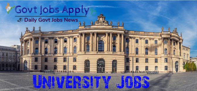 University Govt Jobs
