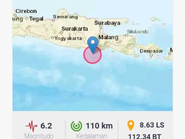 Gempa Blitar Dirasakan Warga Sidoarjo, Oleng Hingga Kepala Mbliyur