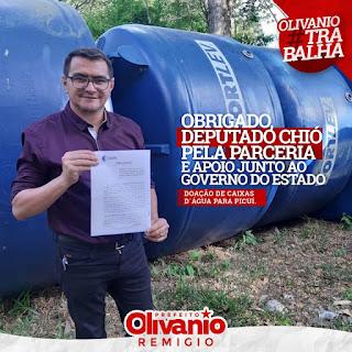 Prefeito de Picuí assina junto a CAGEPA termo de doação de três caixas d'água para o município