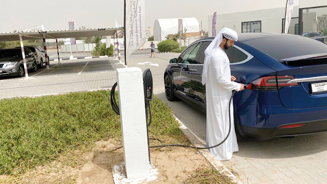 Free charging stations for electric cars in Sharjah