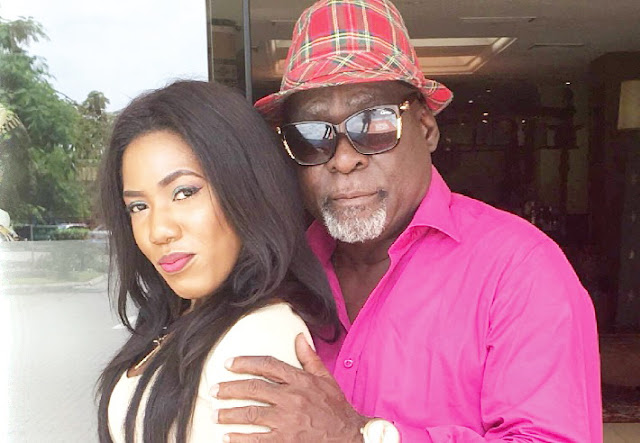 Actress Victoria Lebene Mekpah With Kofi Adjorlolo