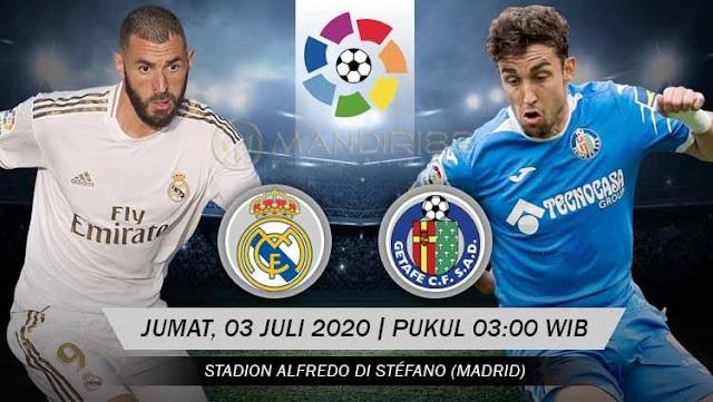 Prediksi Real Madrid Vs Getafe, Jumat 03 Juli 2020 Pukul 03.00 WIB