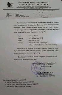 Jadwal Job Fair Disnaker Bandung Desember 2019 Dome Bale Rame Sabilulungan