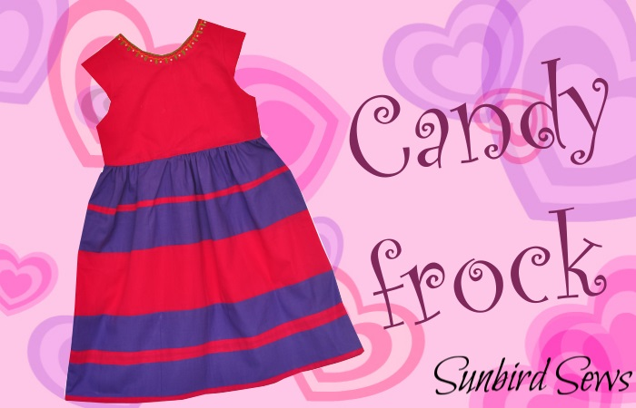 Pink purple frock for little girl with neck pearl embroidery and gathered skirt color blocked dress wooden buttons back like candy dress