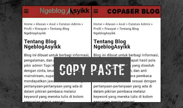 Artikel Hasil Copy Paste Tanpa Izin Tidaklah Berkah