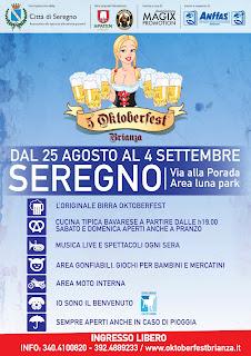 Oktober Fest Brianza dal 25 agosto al 4 settembre Seregno (MB) 2016