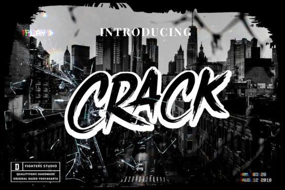 Crack Font - Free Brush Script Typeface