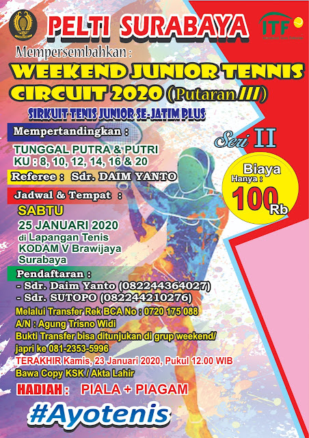 WEEKEND JUNIOR TENNIS CIRCUIT 2020 (Putaran III)