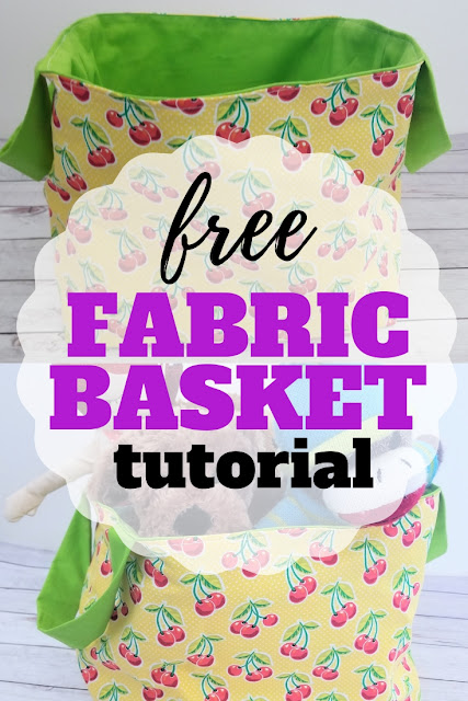 Learn How to Make a Fabric Basket Toy Bin with this free sewing pattern.