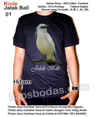Kaos Jalak Bali