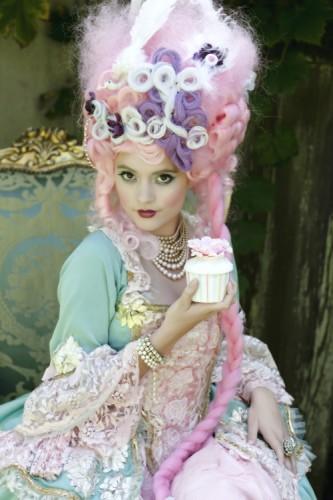 french beauty mark pink hair fantasy
