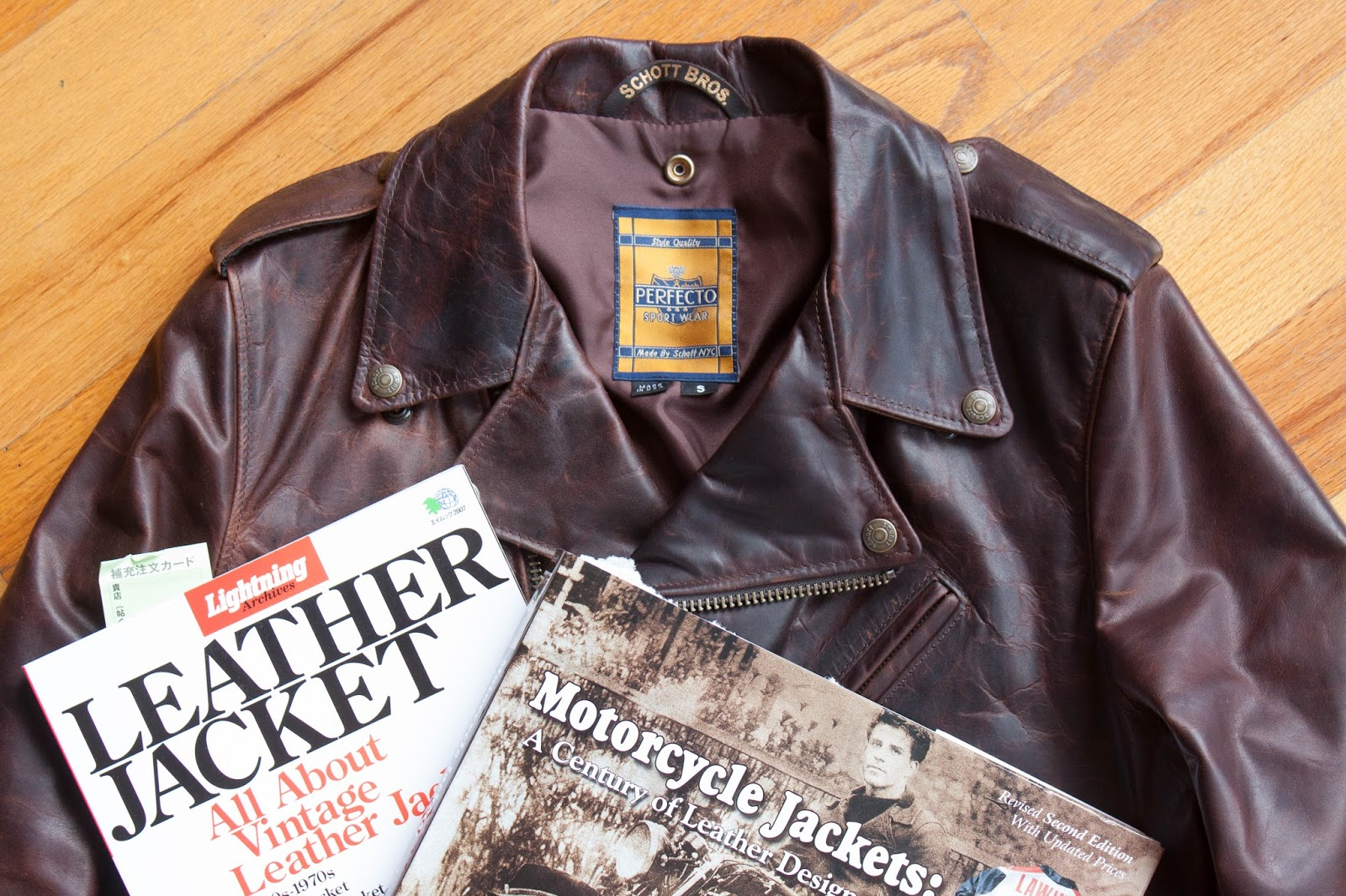 Vintage 70/'s Moss leather jacket