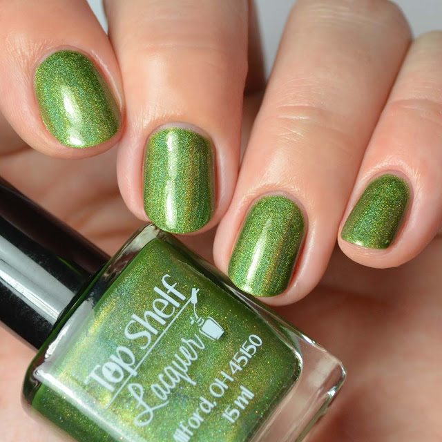 green holographic nail polish