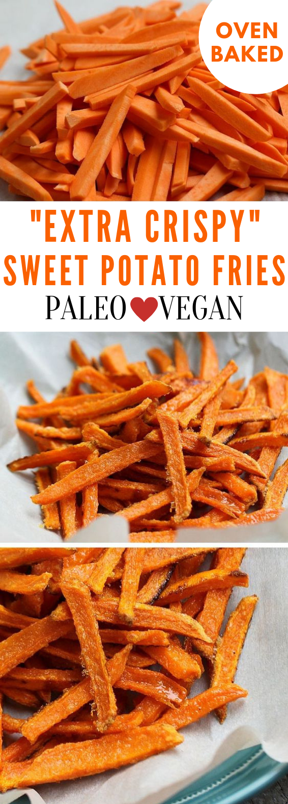 Crispy Oven Baked Sweet Potato Fries #OvenBaked #Potato
