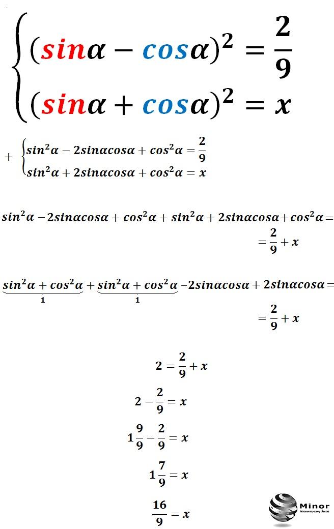 Układ równań trygonometrycznych