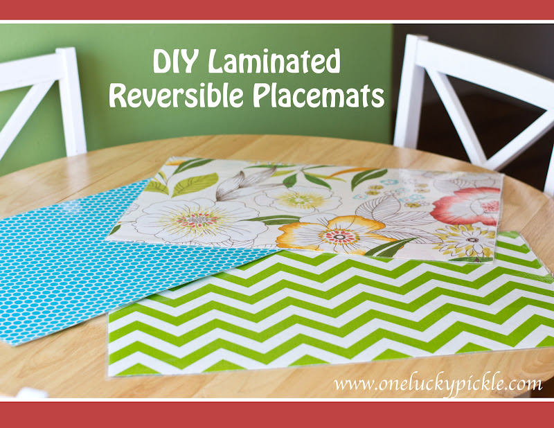 One Lucky Pickle Diy Laminated Placemats