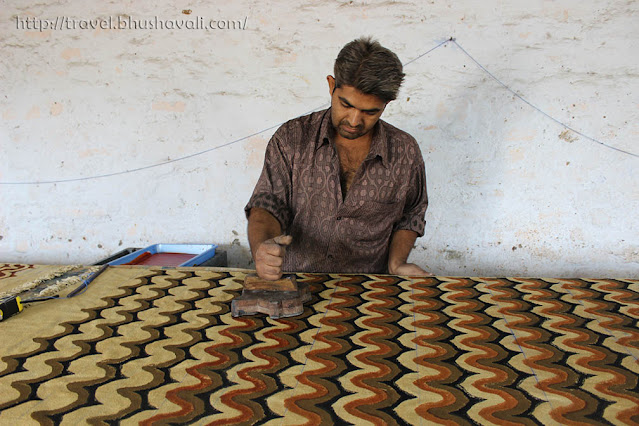 Ajrakh Printing process, Bhuj