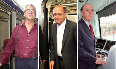 Covas, Alckmin e Serra