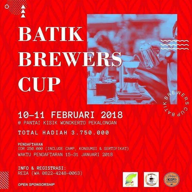 "Event Pekalongan | 10-11/01/18 | Ruang Kopi ""Batik Brewers Cup"""