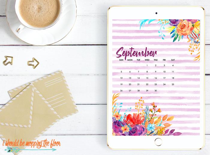 September Calendar Wallpaper