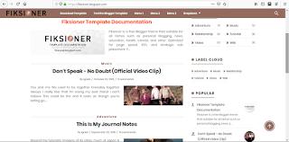 template blogger fiksioner terbaru