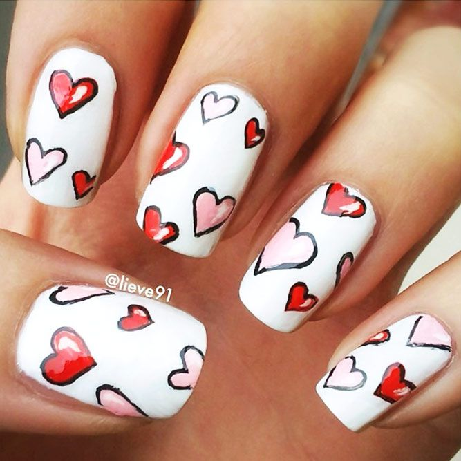 Nail Designs for Romantic Look
