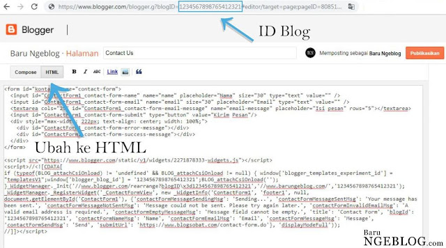 Membuat Contact Form di Blogger