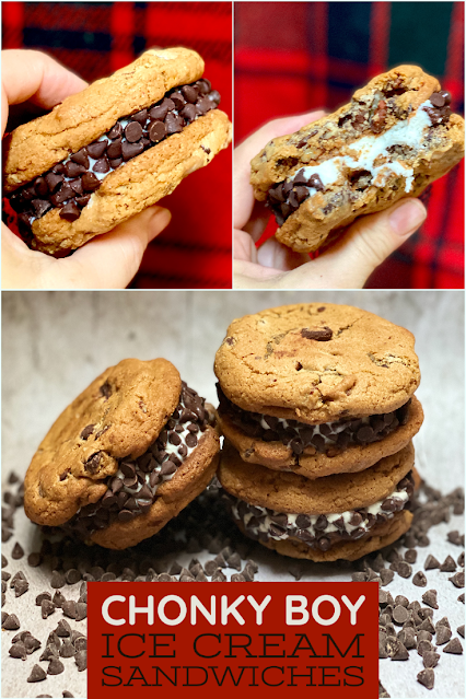 Chonky Boy Chocolate Chip Cookie Ice Cream Sandwiches