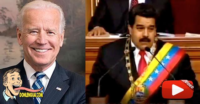 Presentan video de Maduro llamando Camarada a Joe Biden
