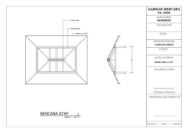 Desain dan RAB Pembangunan WC (Jamban) Umum