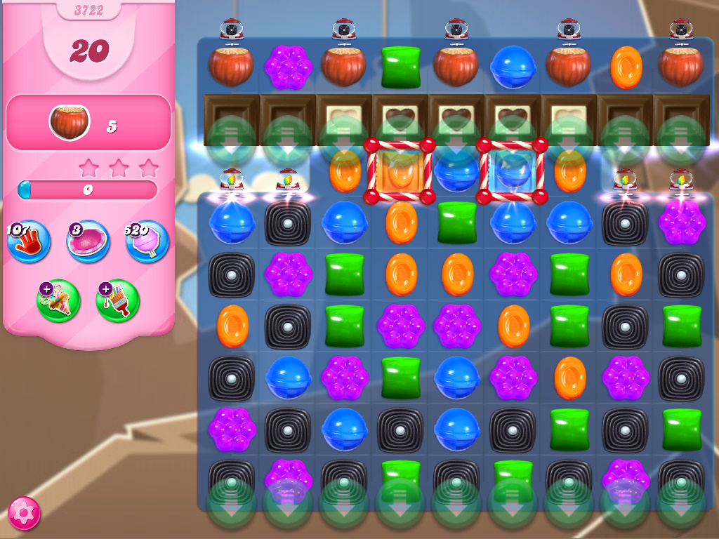Candy Crush Saga level 3722
