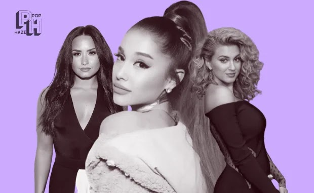 pop stars, demi lovato, ariana grande, and tori kelly