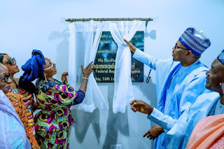 Pres. Buhari Commissions Women Affairs Ministry Building In Abuja
