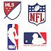 Logo NBA, MLB, MLS, NFL free vector