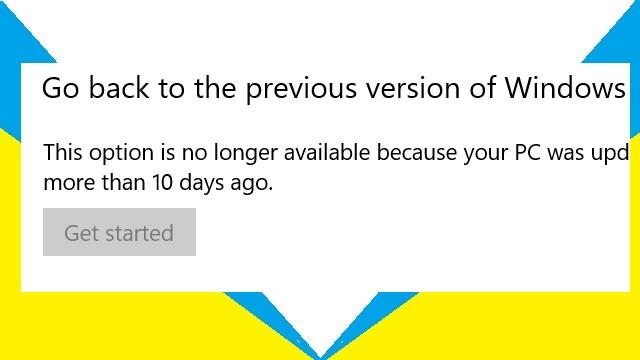 Mengembalikan Windows pada Versi Sebelumnya (Downgrade)