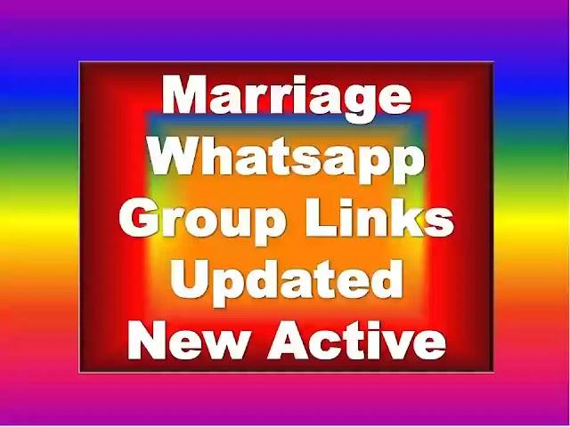 Marriage Whatsapp Group Links | Indian Matrimonial