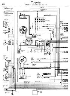 repair-manuals: Toyota Land Cruiser 1965-67 Wiring Diagrams